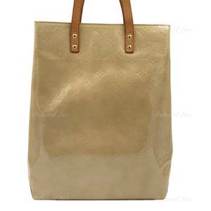 Authentic Louis Vuitton Vernis Beige MM Bag